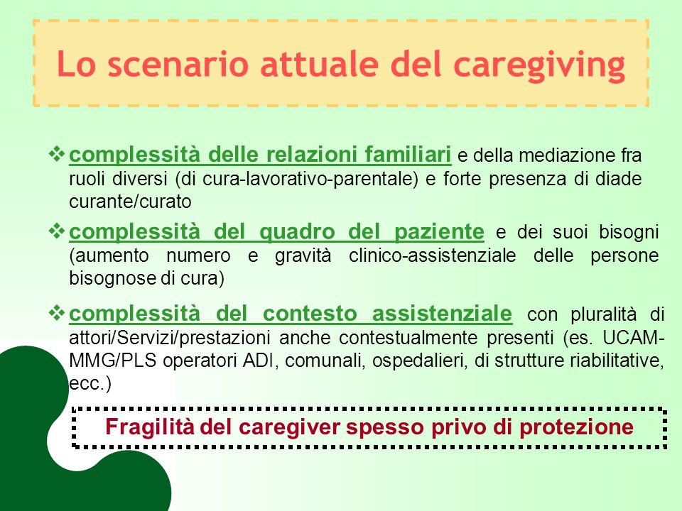 Lo scenario attuale del caregiving