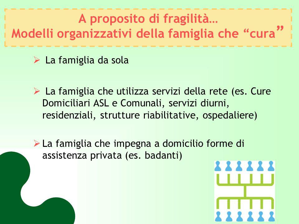 A proposito di fragilità… Modelli organizzativi della famiglia che cura