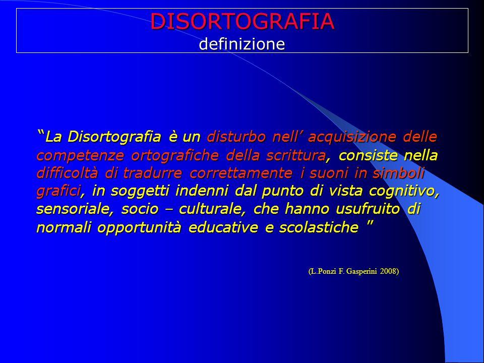 DISORTOGRAFIA definizione.