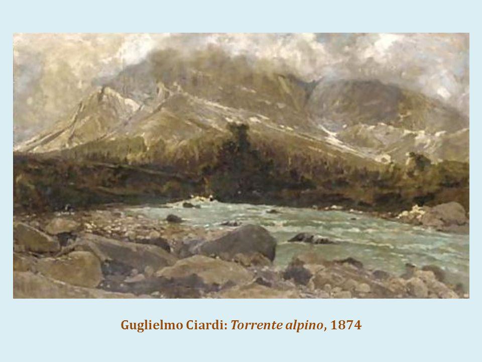 Guglielmo Ciardi: Torrente alpino, 1874