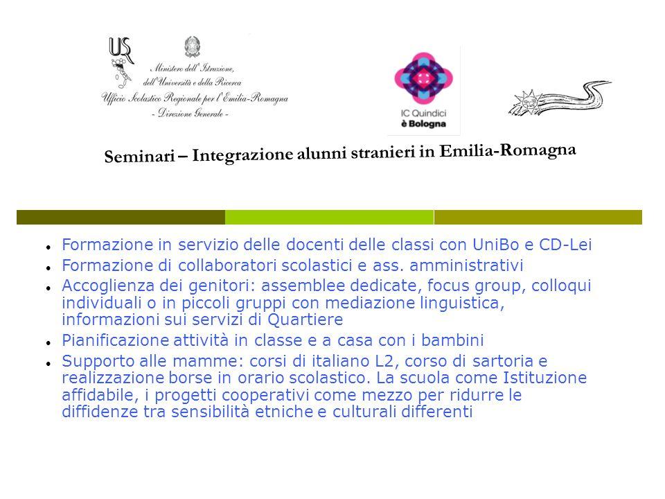 Seminari – Integrazione alunni stranieri in Emilia-Romagna