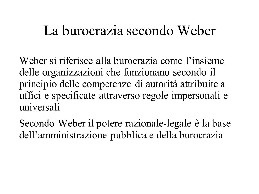La burocrazia secondo Weber