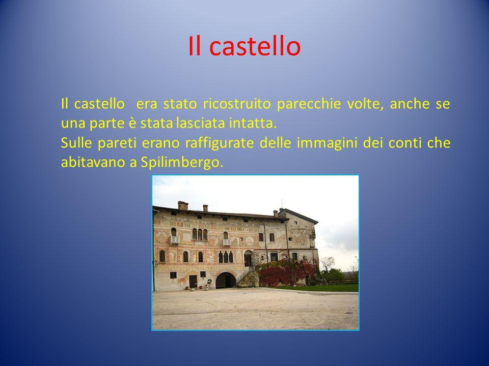 Il castello Il castello era stato ricostruito parecchie volte, anche se una parte è stata lasciata intatta.