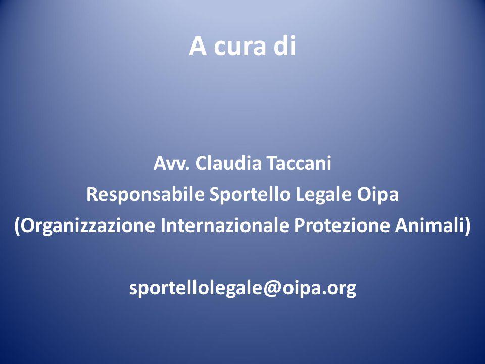 Responsabile Sportello Legale Oipa