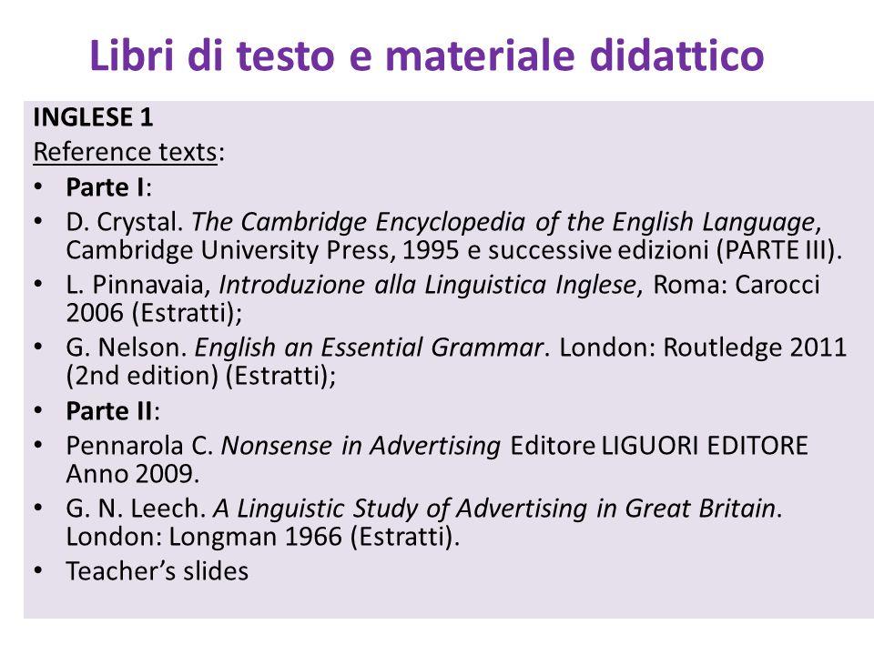 Libri di testo e materiale didattico
