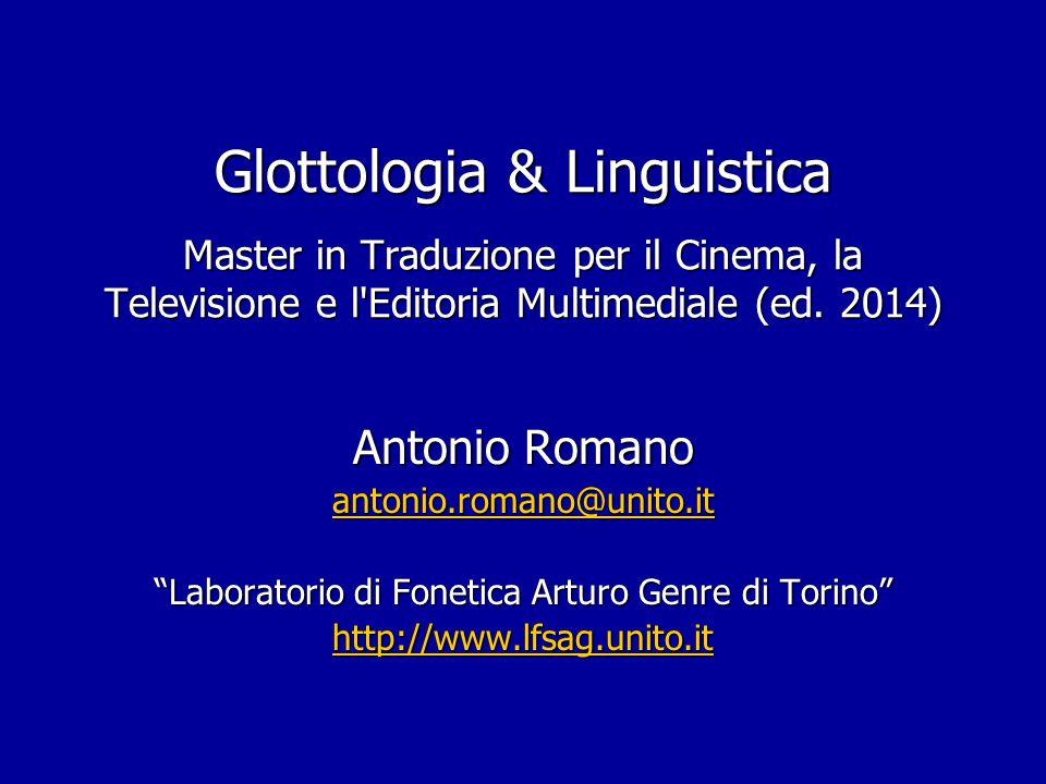 Laboratorio di Fonetica Arturo Genre di Torino
