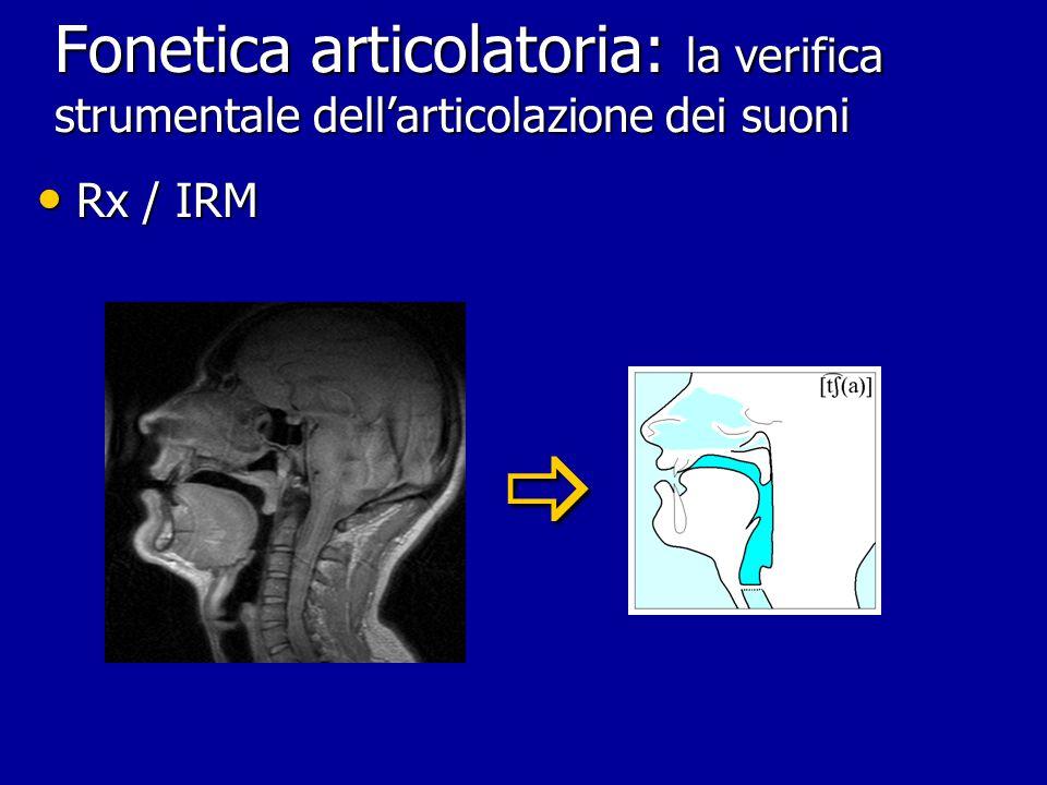 Fonetica articolatoria: la verifica strumentale dell'articolazione dei suoni
