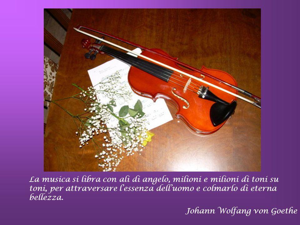 La musica si libra con ali di angelo, milioni e milioni di toni su toni, per attraversare l'essenza dell'uomo e colmarlo di eterna bellezza.