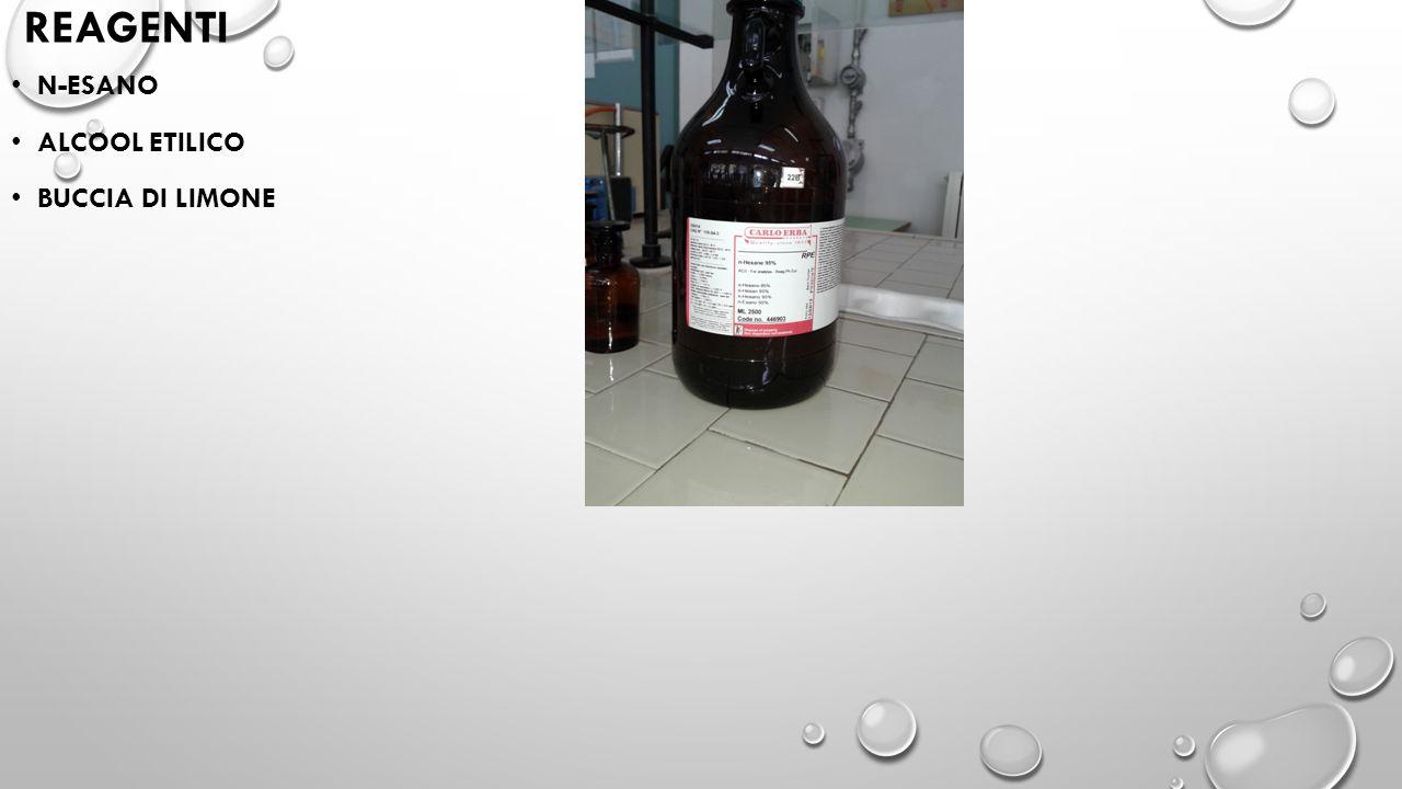 REAGENTI N-ESANO ALCOOL ETILICO BUCCIA DI LIMONE