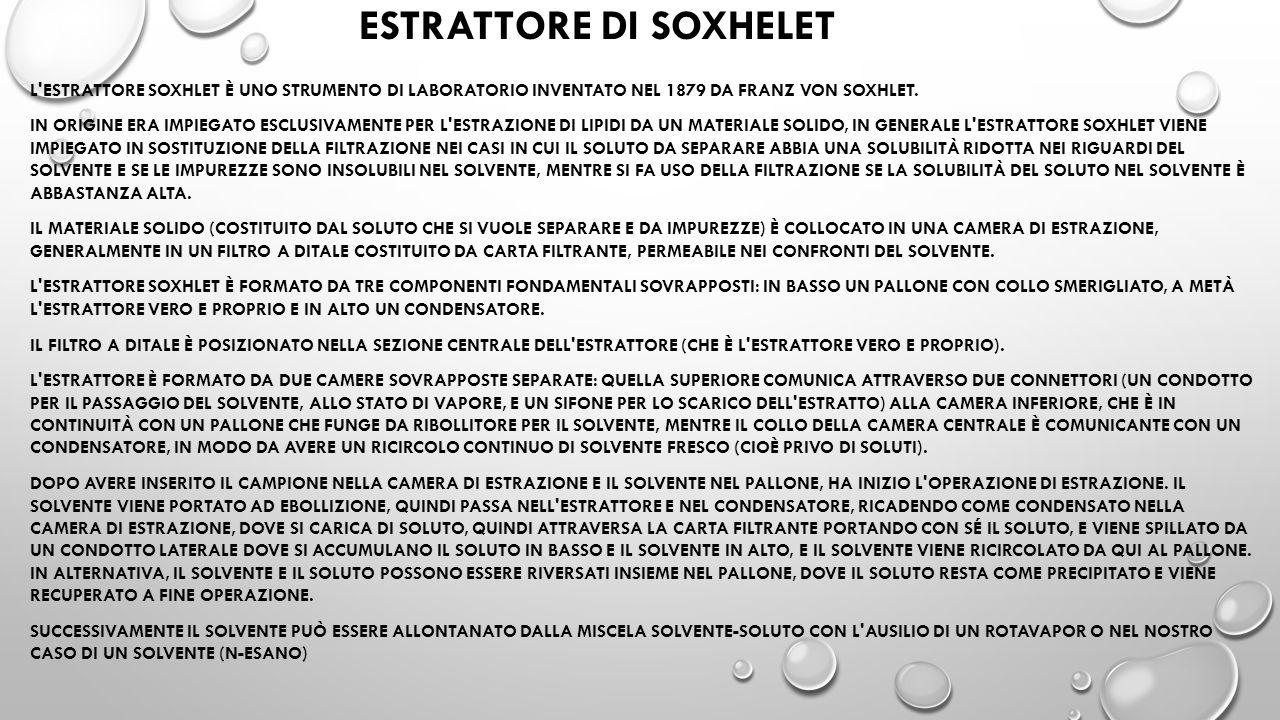 ESTRATTORE DI SOXHELET