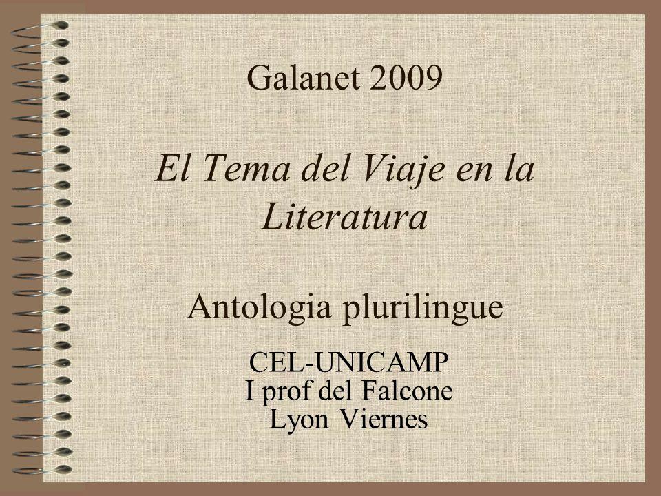 Galanet 2009 El Tema del Viaje en la Literatura Antologia plurilingue