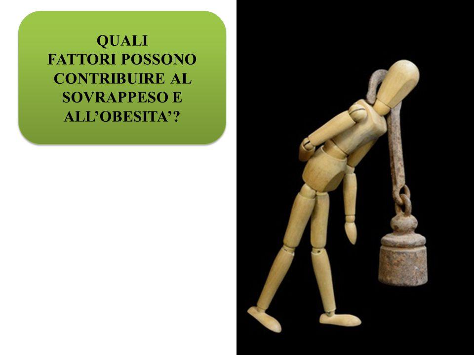 FATTORI POSSONO CONTRIBUIRE AL SOVRAPPESO E ALL'OBESITA'