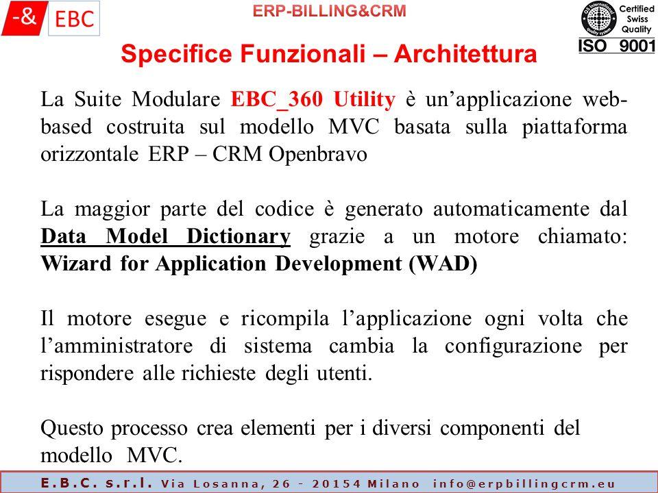 ERP-BILLING&CRM Specifice Funzionali – Architettura.