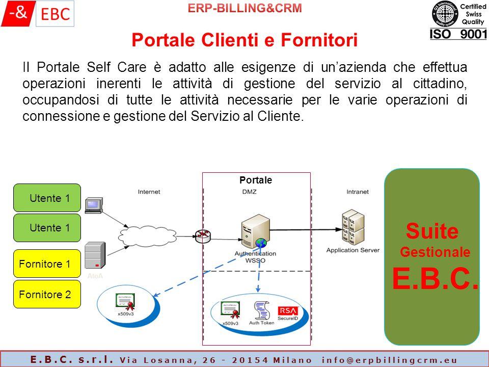 ERP-BILLING&CRM Portale Clienti e Fornitori.