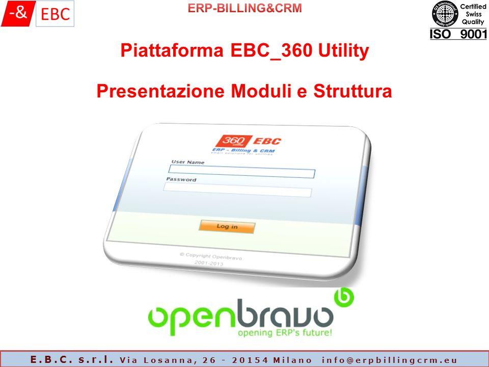 Piattaforma EBC_360 Utility Presentazione Moduli e Struttura