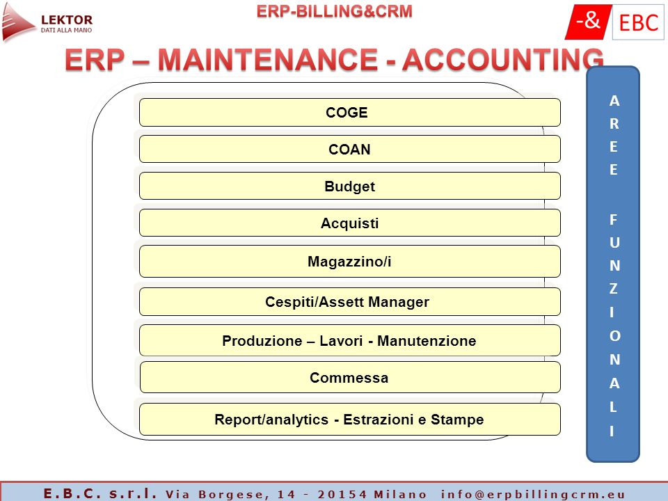 ERP – MAINTENANCE - ACCOUNTING
