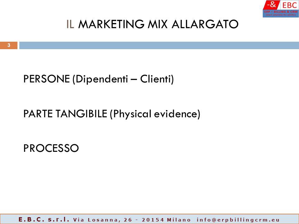 IL MARKETING MIX ALLARGATO