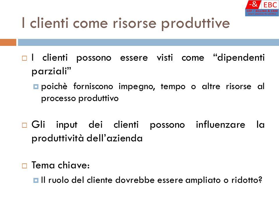 I clienti come risorse produttive