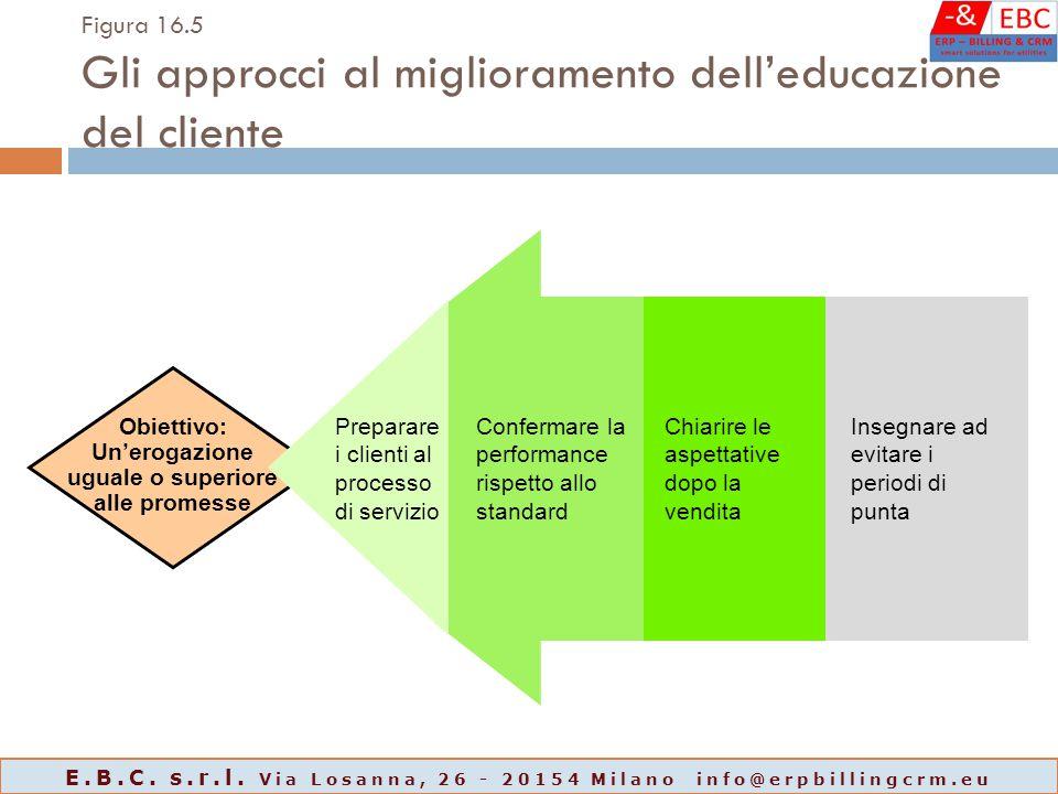 Figura 16.5 Gli approcci al miglioramento dell'educazione del cliente