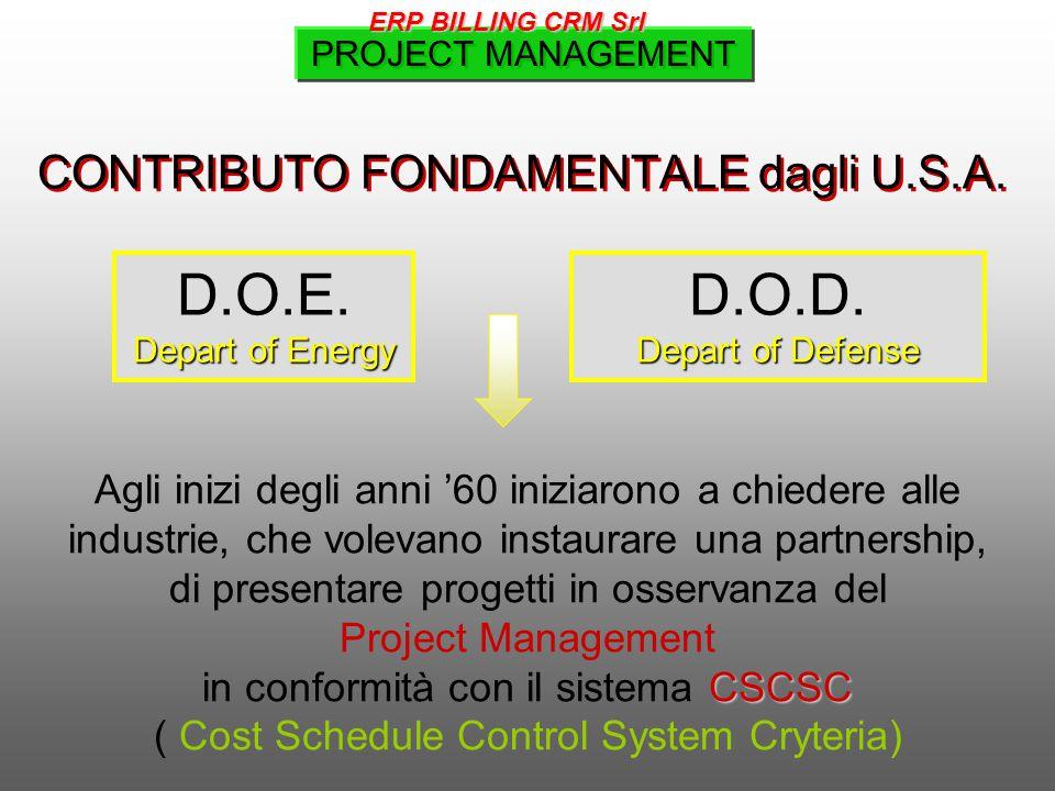 D.O.E. D.O.D. CONTRIBUTO FONDAMENTALE dagli U.S.A.