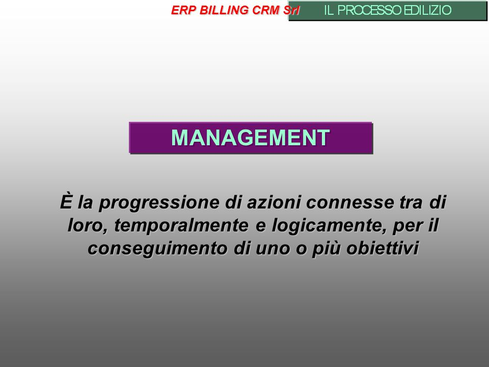 ERP BILLING CRM Srl MANAGEMENT.