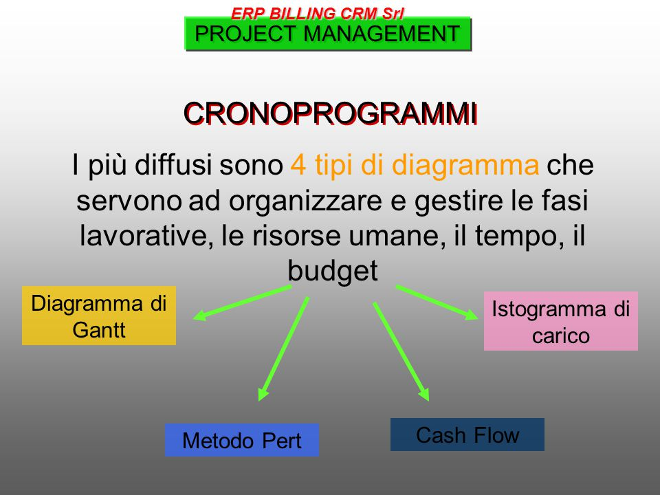 ERP BILLING CRM Srl PROJECT MANAGEMENT. CRONOPROGRAMMI.