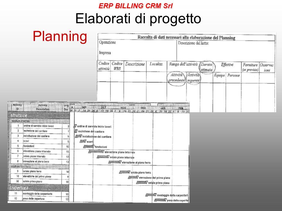 ERP BILLING CRM Srl Elaborati di progetto Planning