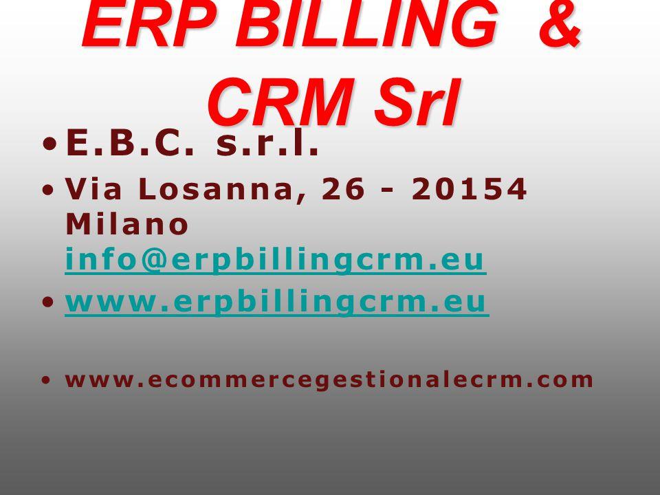 ERP BILLING & CRM Srl E.B.C. s.r.l.