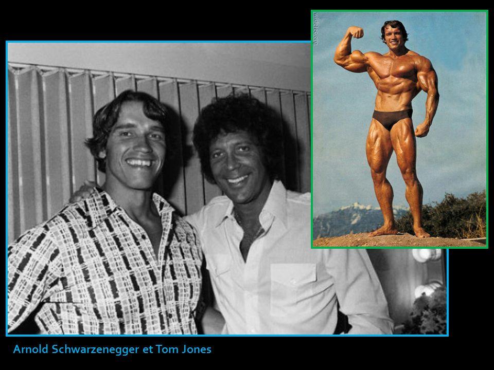 Arnold Schwarzenegger et Tom Jones