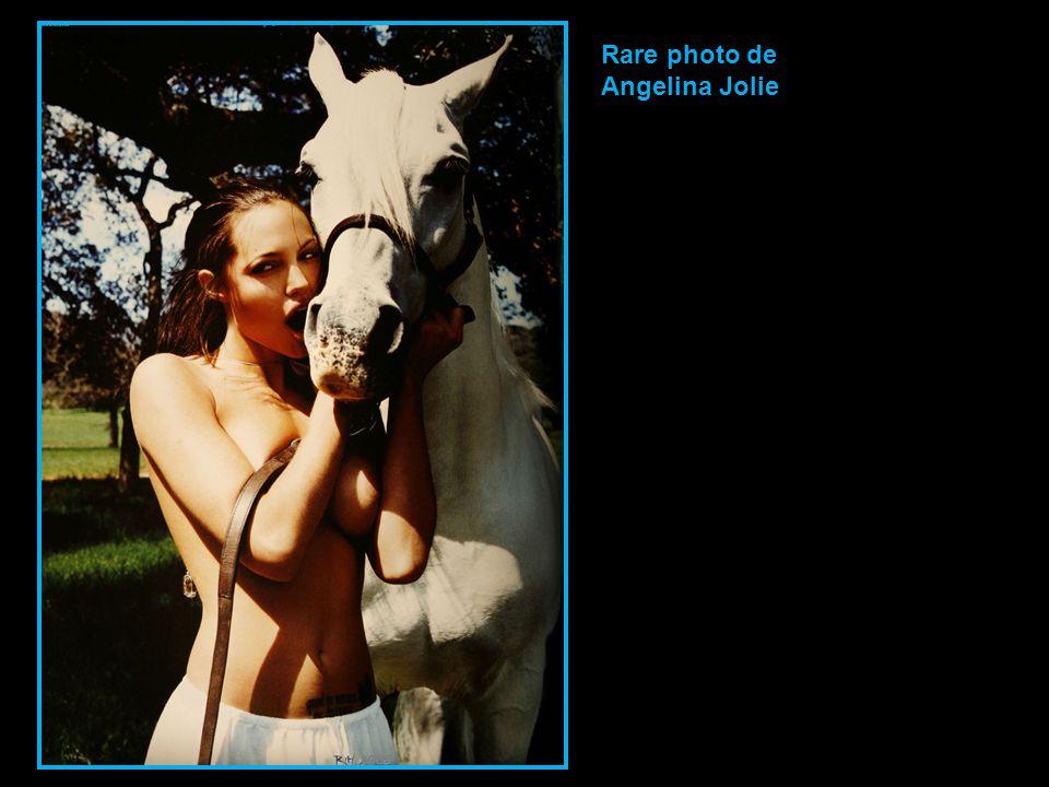 Rare photo de Angelina Jolie