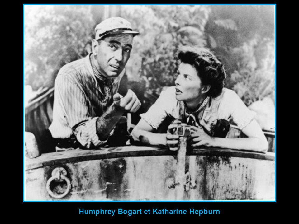 Humphrey Bogart et Katharine Hepburn