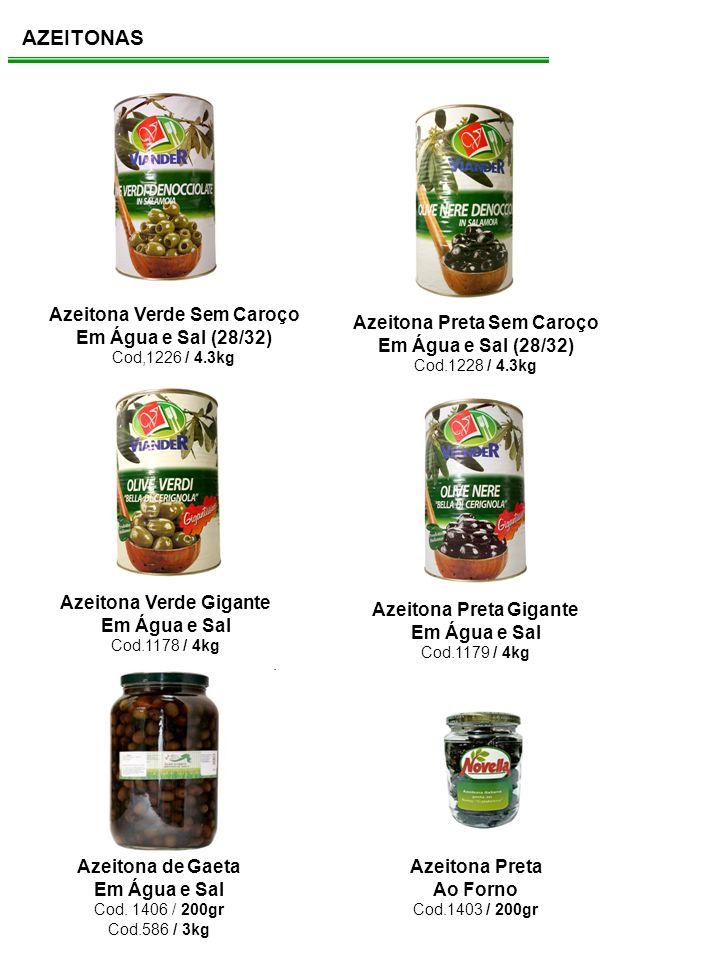 AZEITONAS Azeitona Verde Sem Caroço Em Água e Sal (28/32)