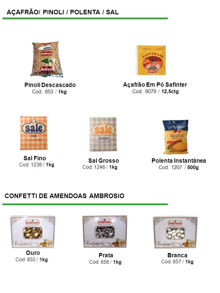 AÇAFRÃO/ PINOLI / POLENTA / SAL