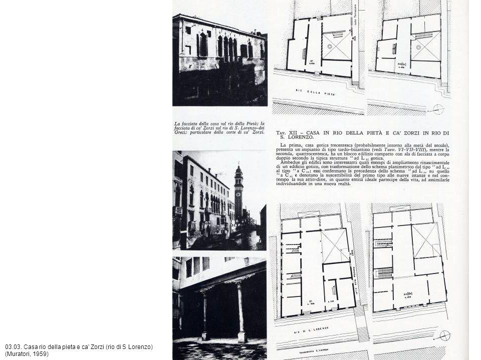 03.03. Casa rio della pieta e ca Zorzi (rio di S Lorenzo) (Muratori, 1959)