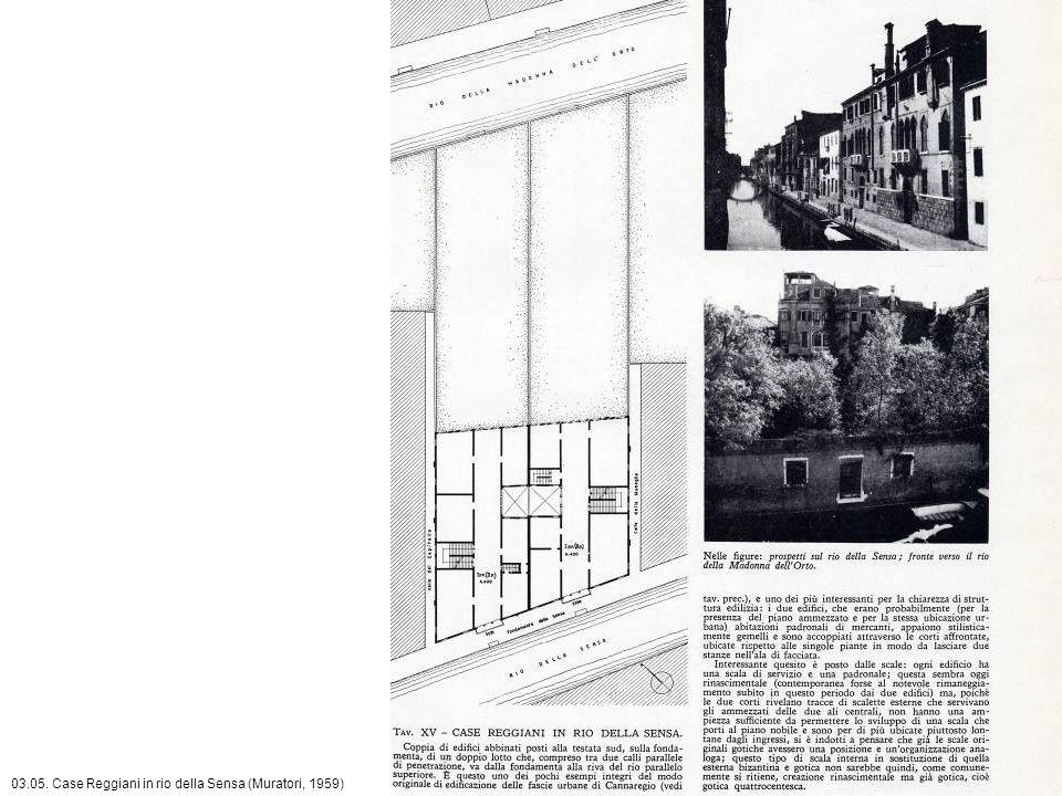 03.05. Case Reggiani in rio della Sensa (Muratori, 1959)