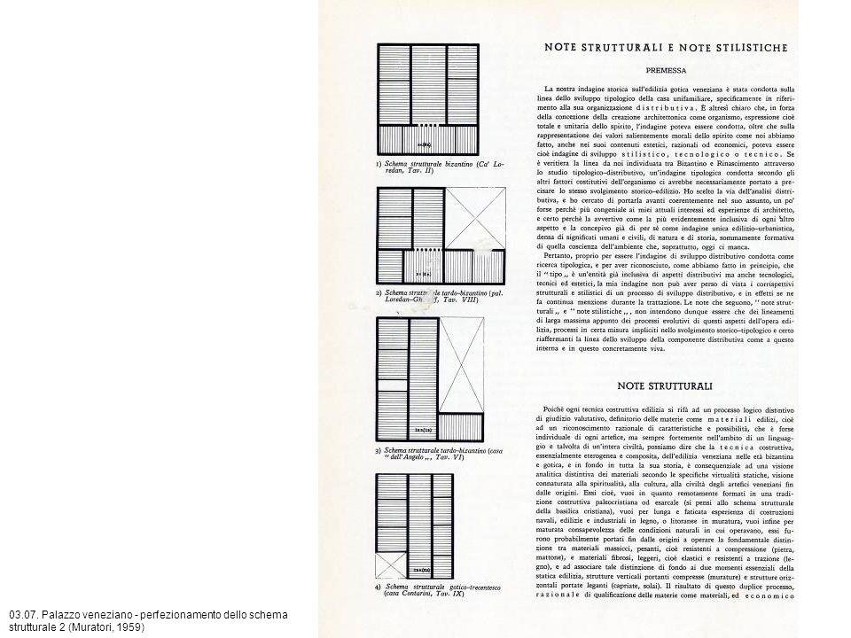 03.07. Palazzo veneziano - perfezionamento dello schema strutturale 2 (Muratori, 1959)