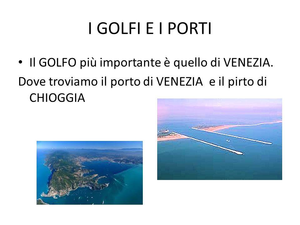 I GOLFI E I PORTI Il GOLFO più importante è quello di VENEZIA.