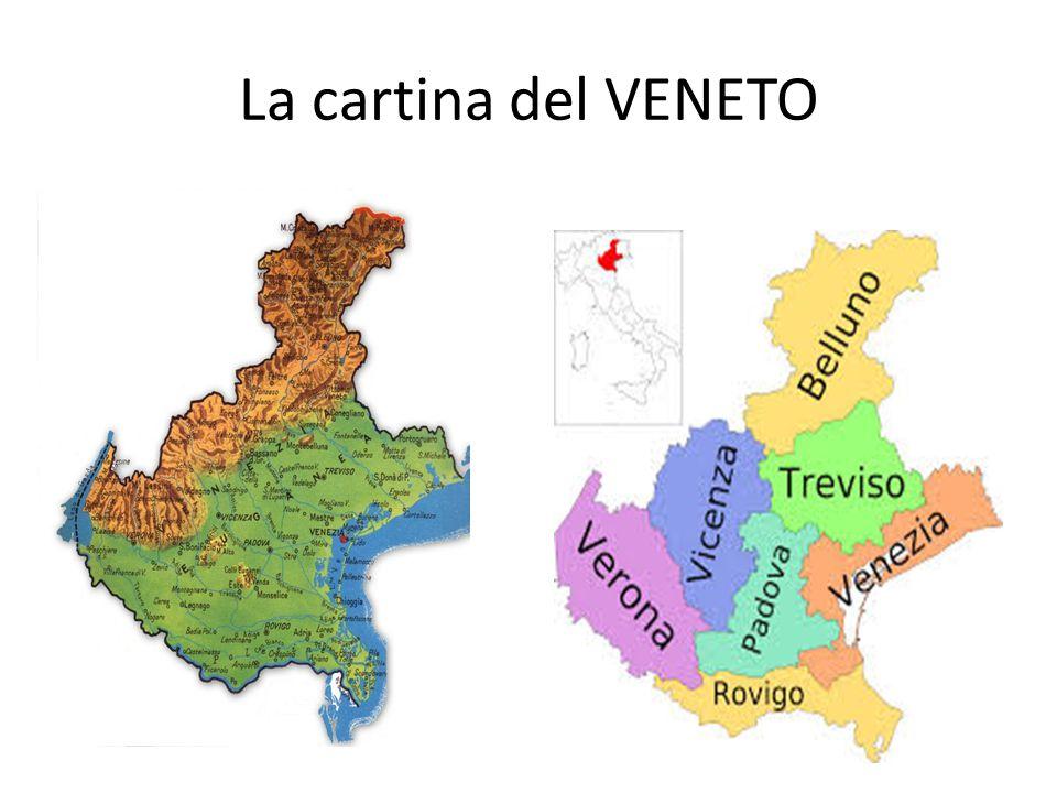 La cartina del VENETO
