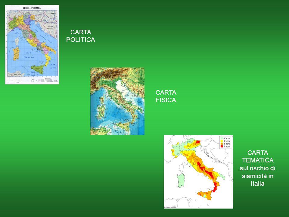 CARTA TEMATICA sul rischio di sismicità in Italia