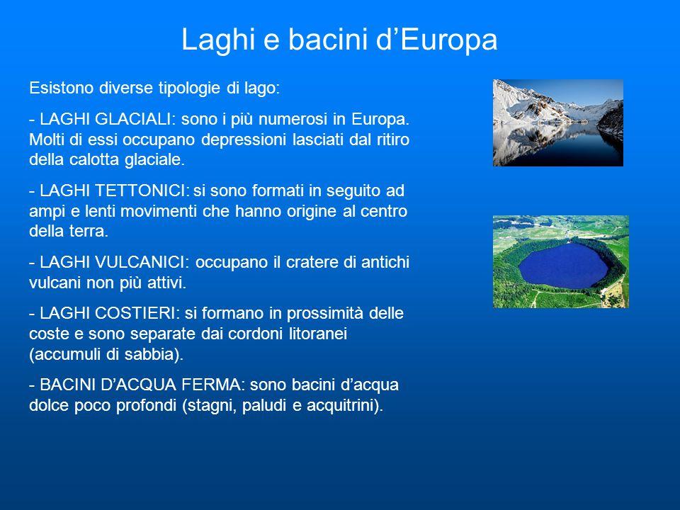 Laghi e bacini d'Europa
