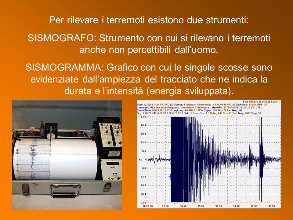 Per rilevare i terremoti esistono due strumenti: