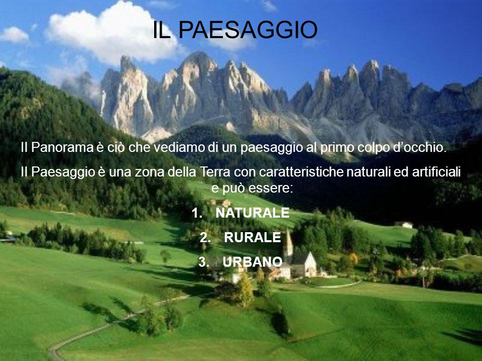 IL PAESAGGIO Il Panorama è ciò che vediamo di un paesaggio al primo colpo d'occhio.