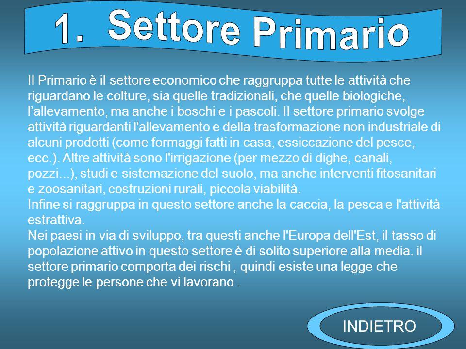 1. Settore Primario INDIETRO