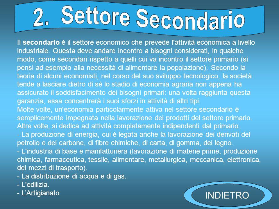 2. Settore Secondario INDIETRO