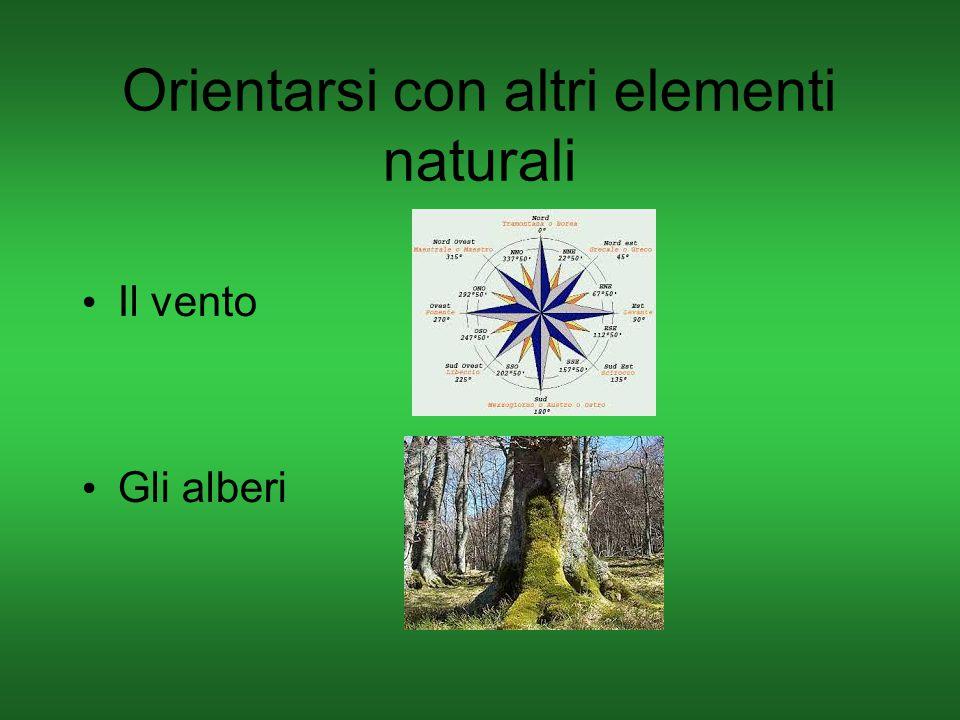 Orientarsi con altri elementi naturali