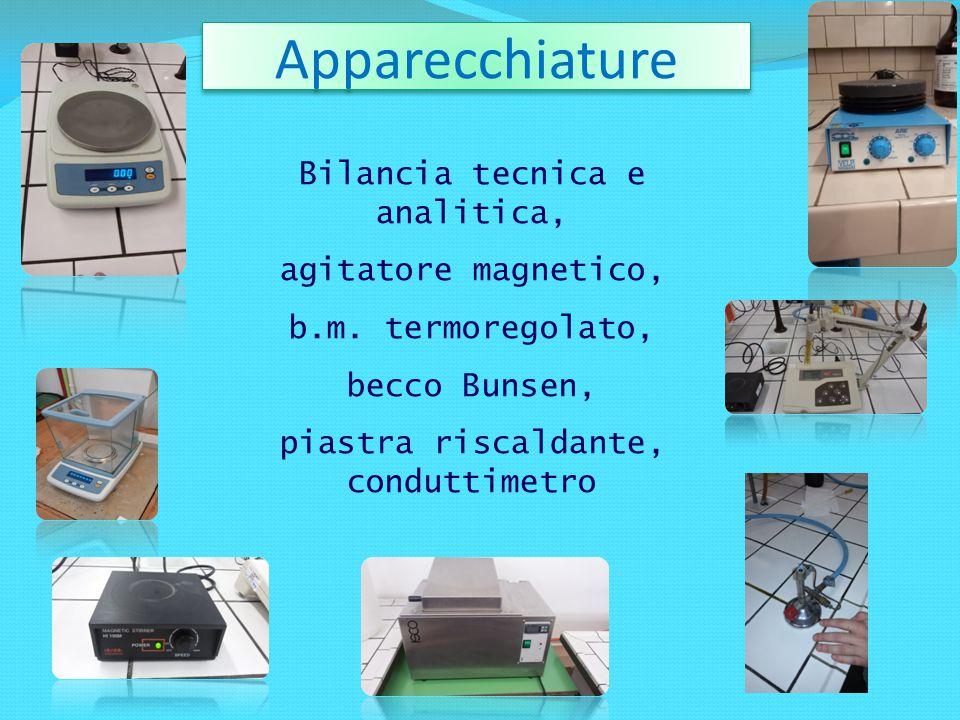 Apparecchiature Bilancia tecnica e analitica, agitatore magnetico,