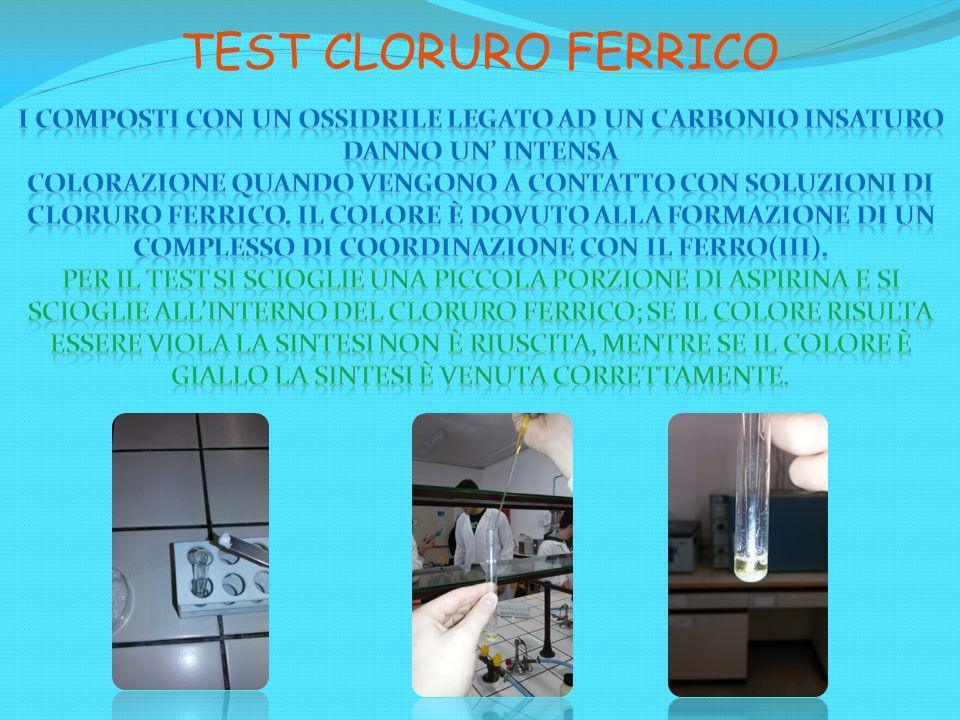 TEST CLORURO FERRICO i composti con un ossidrile legato ad un carbonio insaturo danno un' intensa.