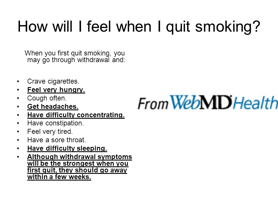 How will I feel when I quit smoking