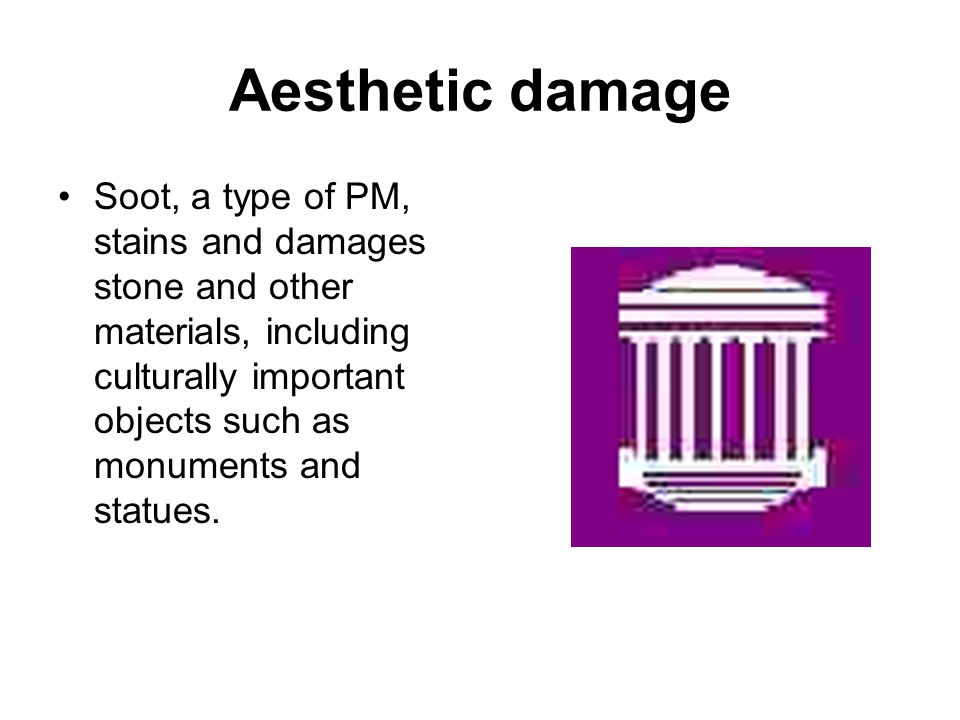 Aesthetic damage