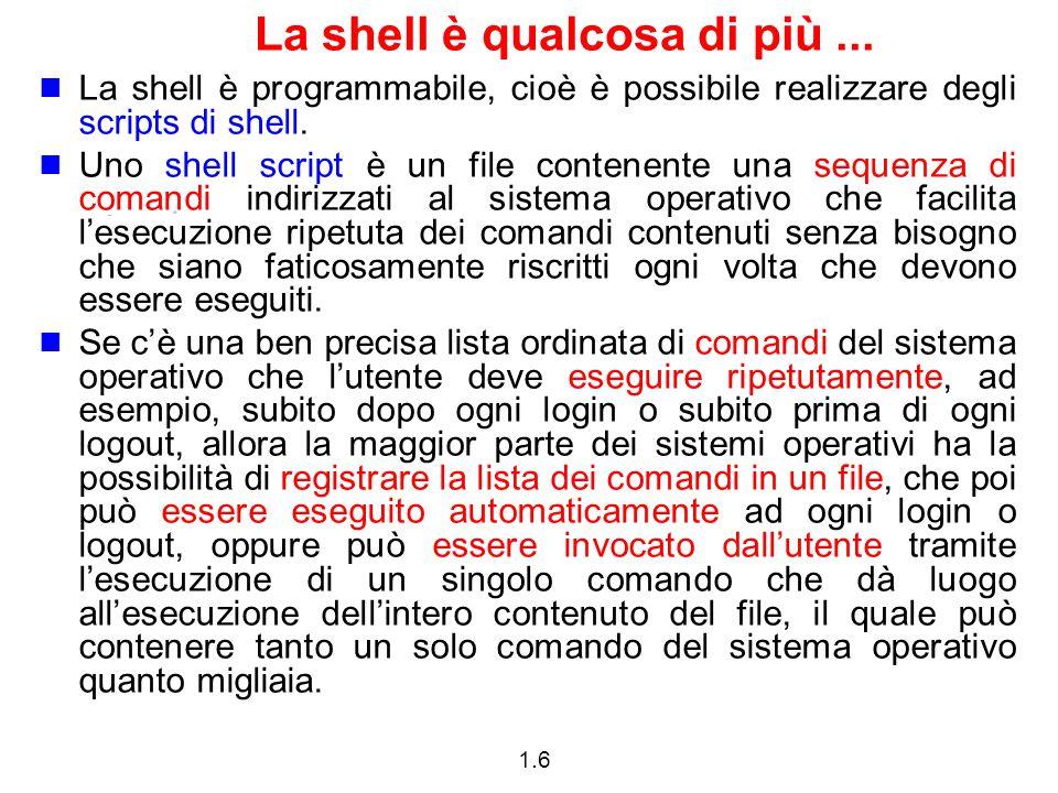 La shell è qualcosa di più ...